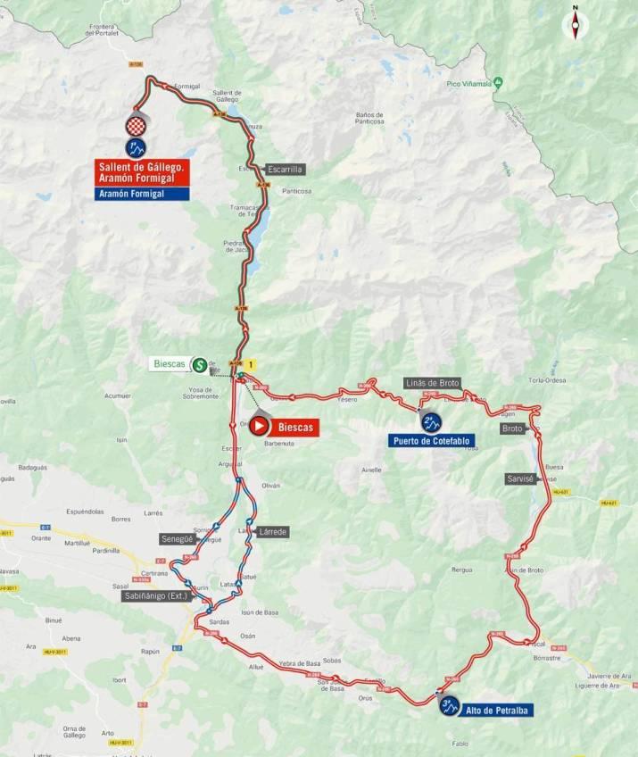 6e étape - Nouvelle carte - Tour d'Espagne 2020