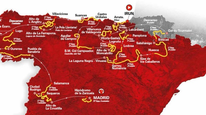 Carte Affiche - Tour d'Espagne Vuelta 2020