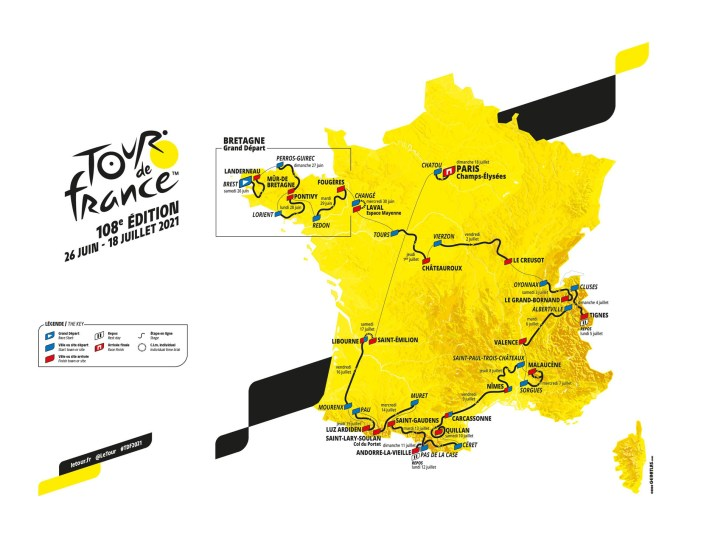 Carte générale - Tour de France 2021