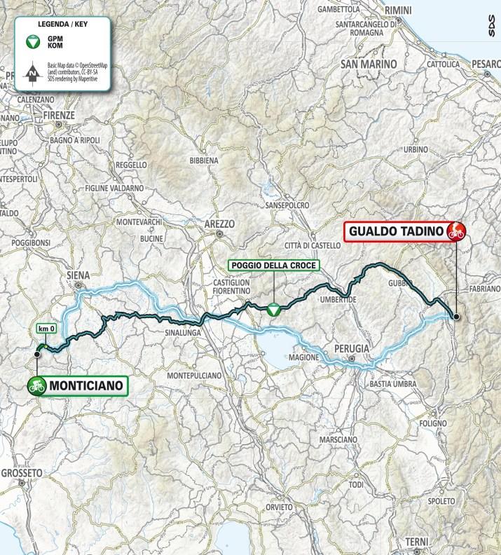 Carte - 3e étape - Tirreno-Adriatico 2021