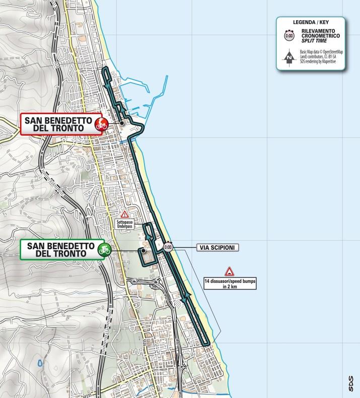 Carte - 7e étape - Tirreno-Adriatico 2021