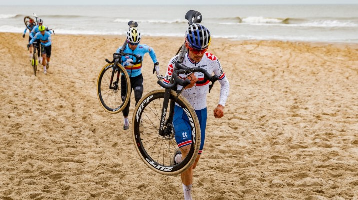 Tom Pidcock à Pied Sable - Championnats du monde de cyclo-cross 2021 - Alain Vandepontseele