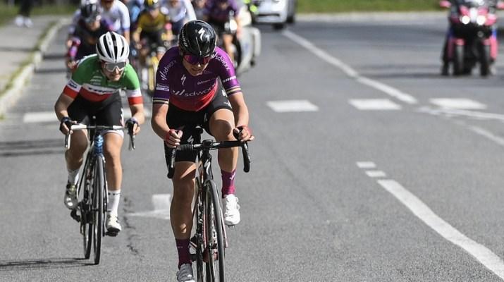 Chantal van den Broek-Blaak - Attaque décisive Strade Bianche Femmes 2021 - La Presse Marco Alpozzi
