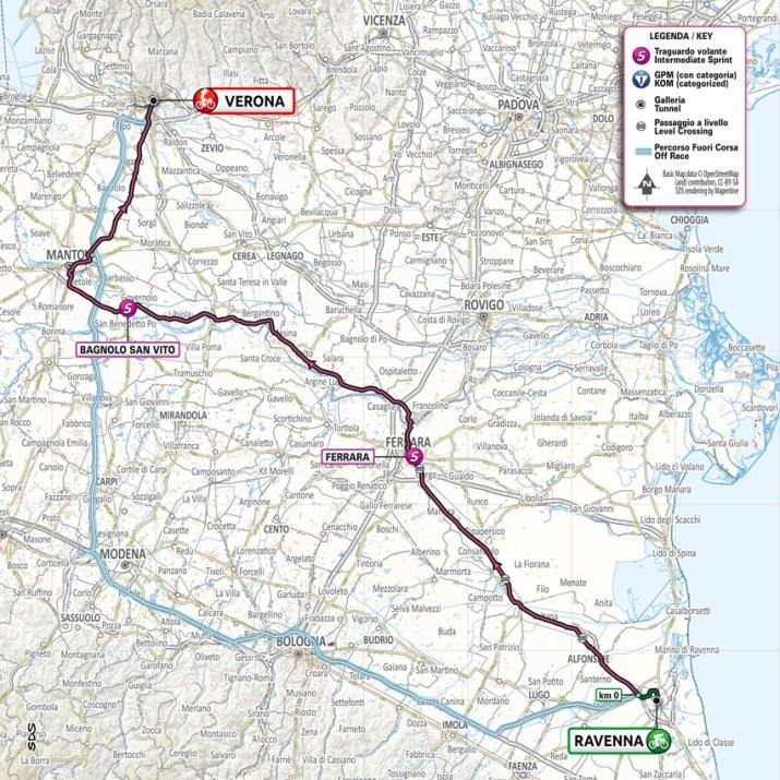 13e étape - Carte - Tour d'Italie Giro 2021