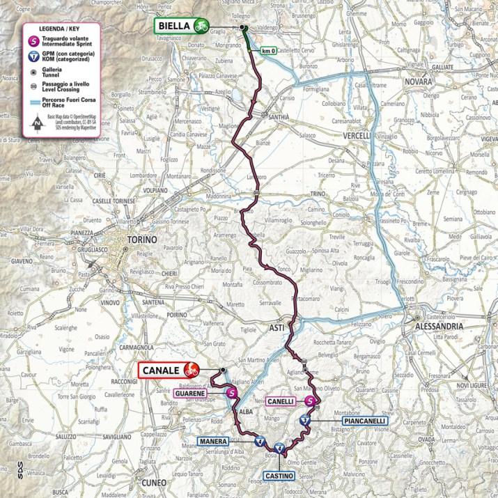 3e étape - Carte - Tour d'Italie Giro 2021