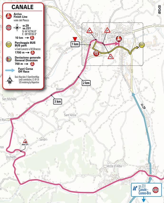3e étape - Carte du final - Tour d'Italie Giro 2021