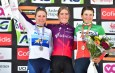 Podium - Annemiek van Vleuten Demi Vollering Elisa Longo Borghini - Liège-Bastogne-Liège Femmes 2021 - ASO Gautier Demouveaux