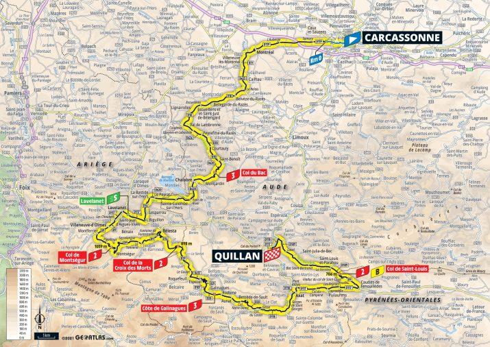 14e étape - Carte - Tour de France 2021