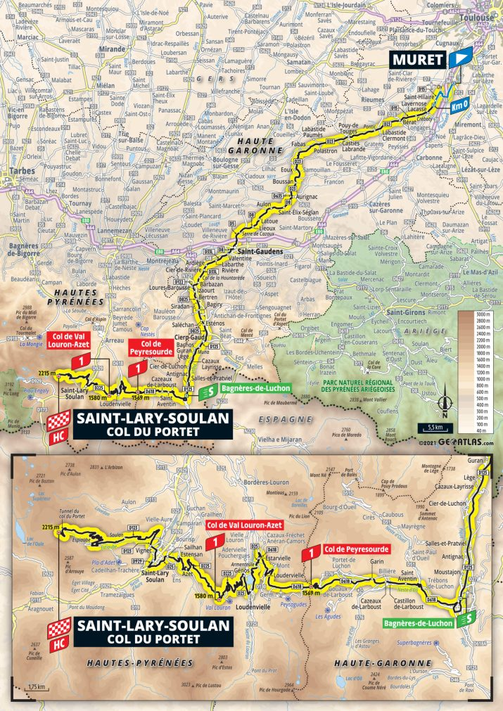 17e étape - Carte - Tour de France 2021