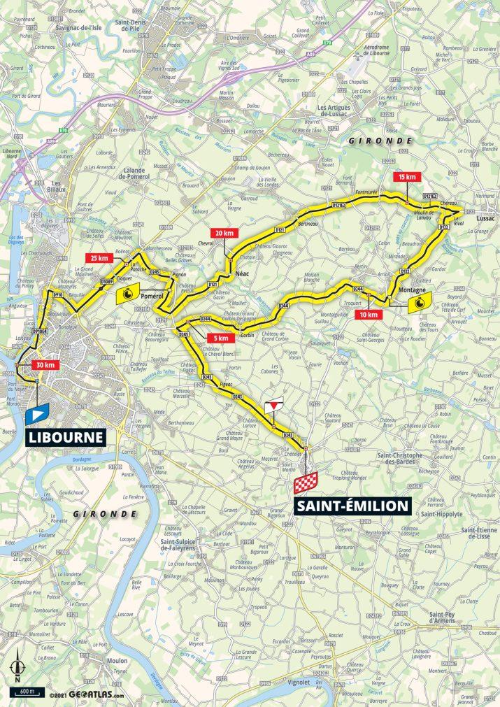 20e étape - Carte - Tour de France 2021