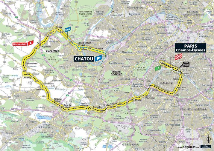 21e étape - Carte - Tour de France 2021