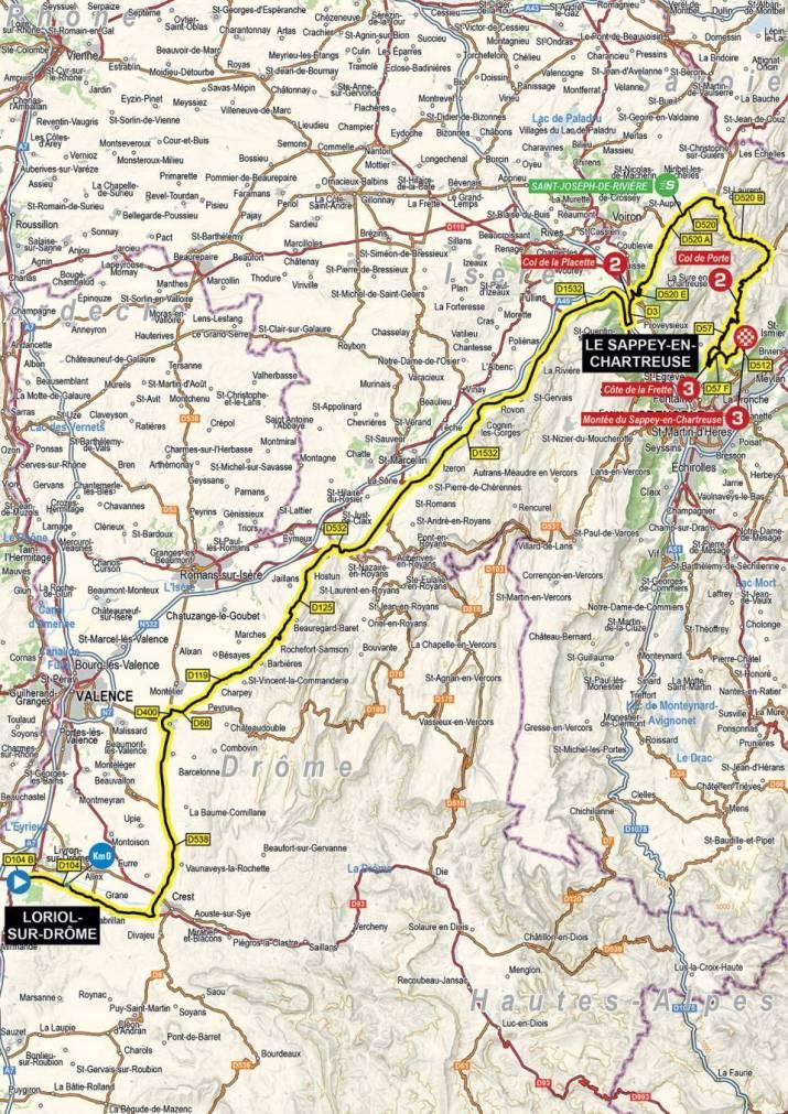 6e étape - Carte - Critérium du Dauphiné 2021