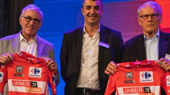 Joop Zoetemelk Javier Guillen et Jan Janssen - Tour d'Espagne Vuelta 2020 - Présentation étapes néerlandaises - Unipublic