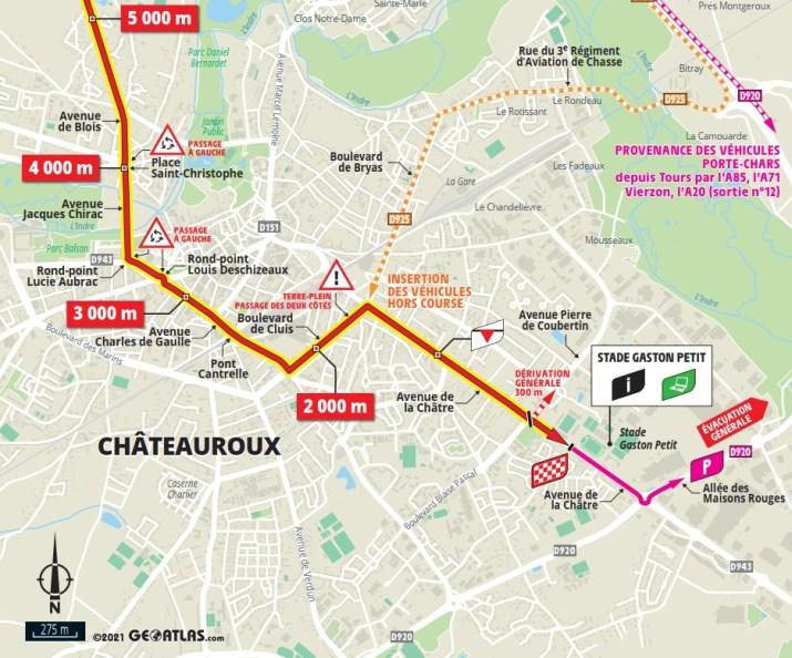 6e étape - Carte du final - Tour de France 2021