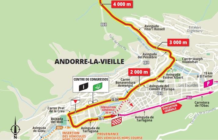 15e étape - Carte du final - Tour de France 2021