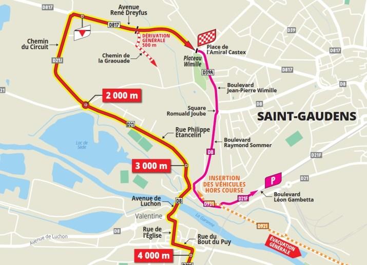 16e étape - Carte du final - Tour de France 2021