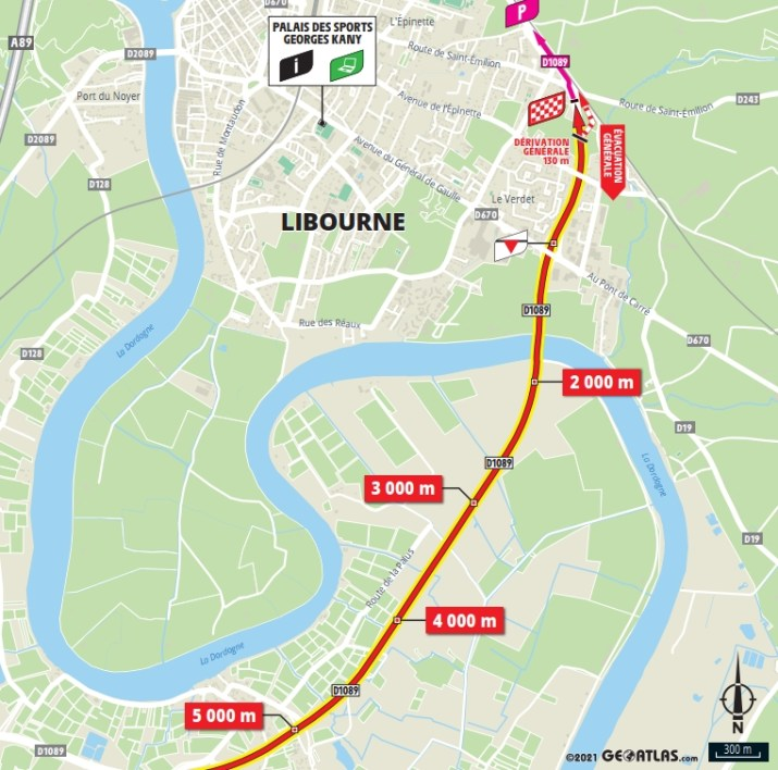 19e étape - Carte du final - Tour de France 2021
