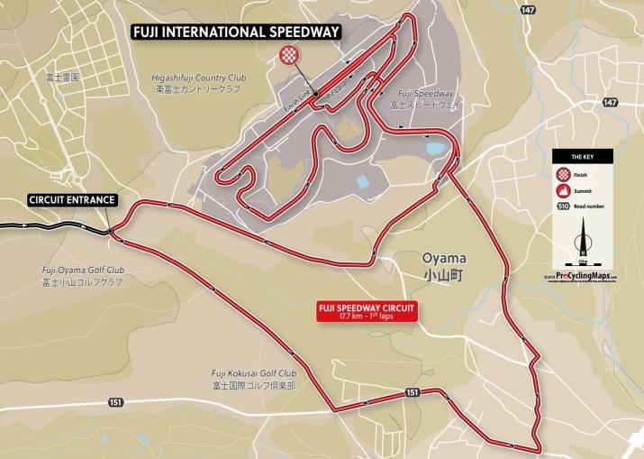 Carte du final - Course en ligne Femmes - Jeux Olympiques Tokyo 2020 - ProCyclingMaps