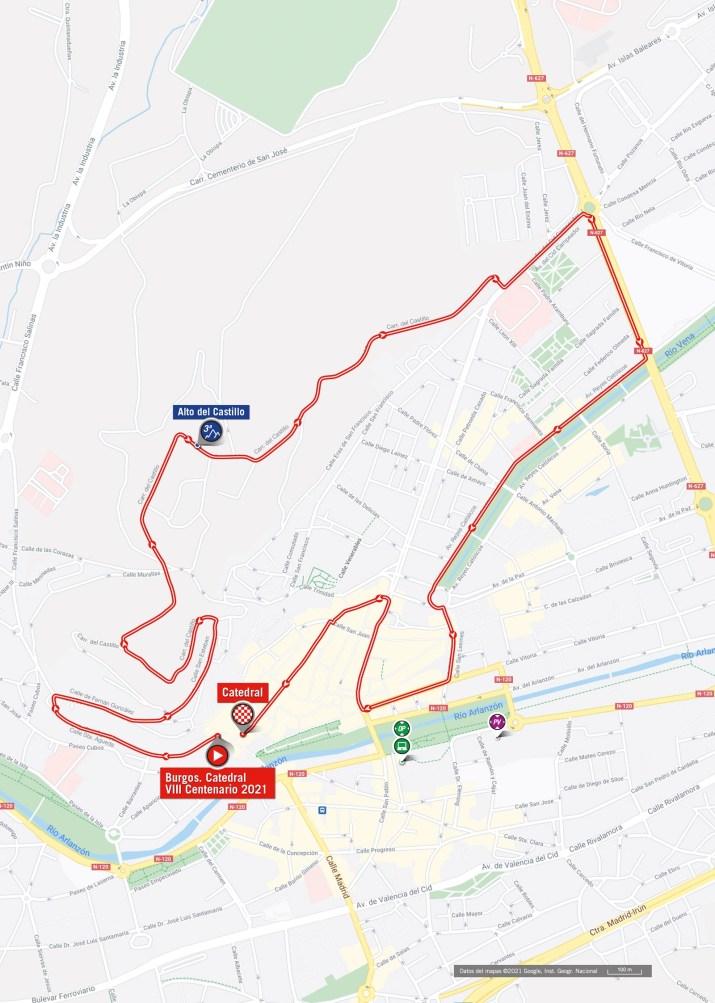 1re étape - Carte - Tour d'Espagne Vuelta 2021