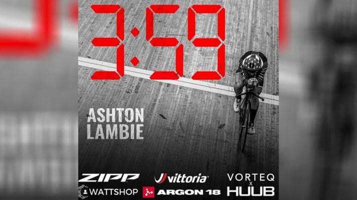 Ashton Lambie - Tentative Record Poursuite - Couverture.jpg