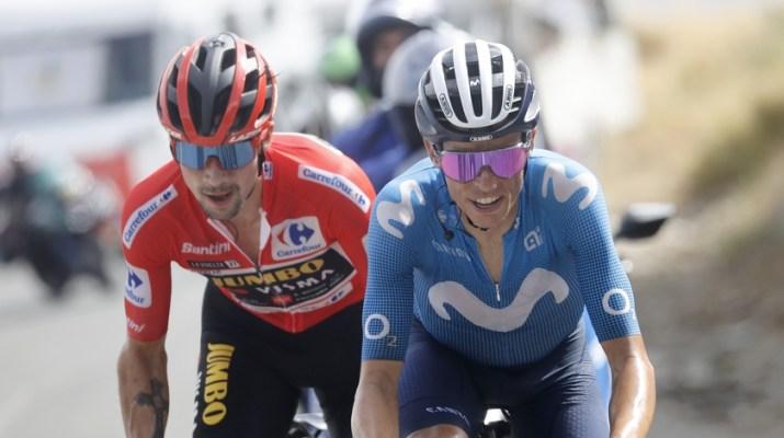 Primoz Roglic Enric Mas Attaque - 9e étape Tour d'Espagne Vuelta 2021 - ASO Unipublic Gomez Sport Luis Angel Gomez.jpg
