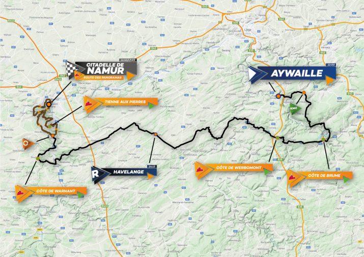 Carte - Grand Prix de Wallonie 2021