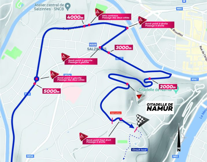 Carte des derniers kilomètres - Grand Prix de Wallonie 2021