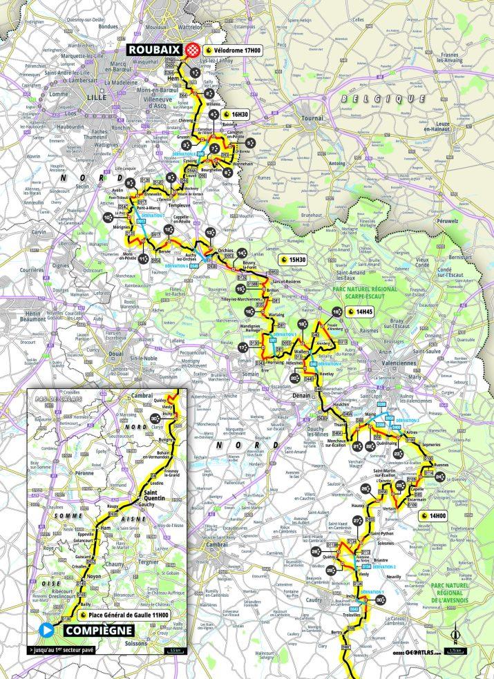 Paris-Roubaix 2021 - Carte Hommes
