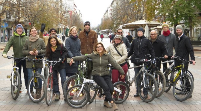 Cycling and Bonding in Sofia with our Continental Colleagues