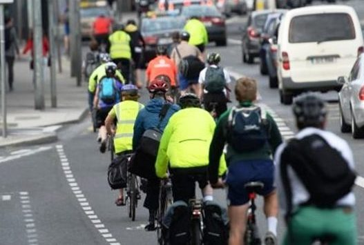 Cyclists outnumber cars in parts of Dublin city