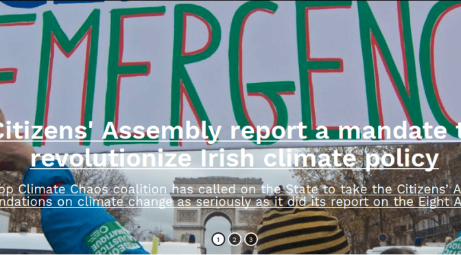 Citizens' Assembly report a mandate for revolutionising Ireland's climate policy