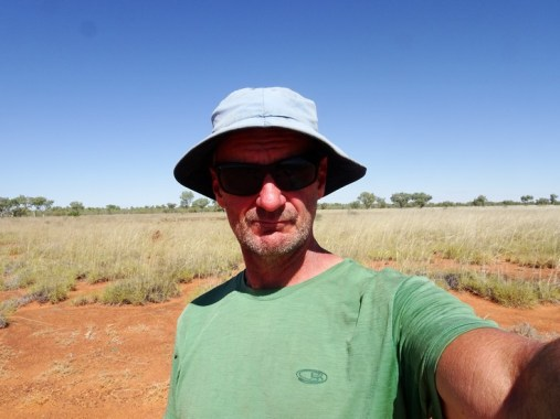 Selfie, on the Canning Stock Route at Nyarna