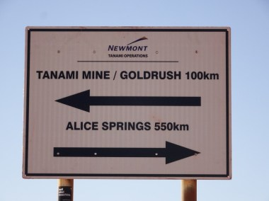 At least I know which way to go as I exit the mine's access road