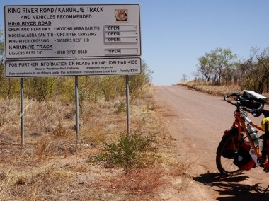This back-track heads down to the Gibb River Road via Diggers Rest Station.