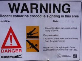 Last croc sighting less than a week ago. Hmmm