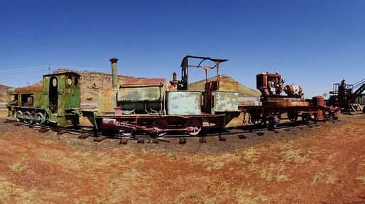 Ancient trains used in the meatworks and port