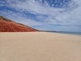 and an empty beach