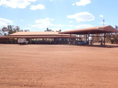 Auski Roadhouse, surrounded by dust