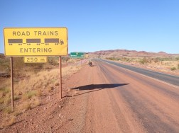 Where the mining roadtrains enter, and leave, the Great Northern. Fortunately just opposite Auski