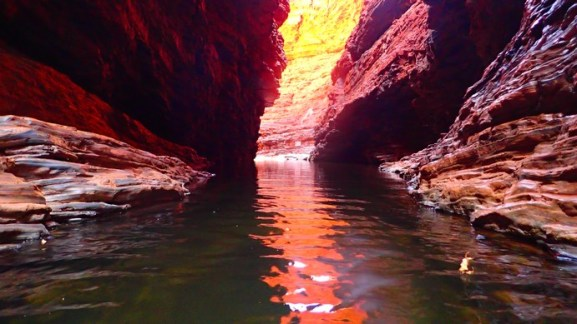 There is light at the end of the canyon. Quite a lot actually. The water though, is fucking cold