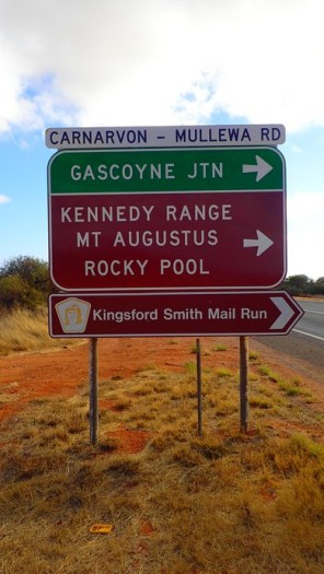 My turn-off off the Great Northern and onto the Carnarvon-Mullewa Road