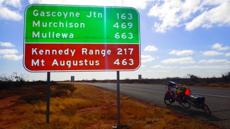 And this sign. I'm aiming for Mullewa