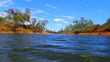 Water level view of the Murchison view