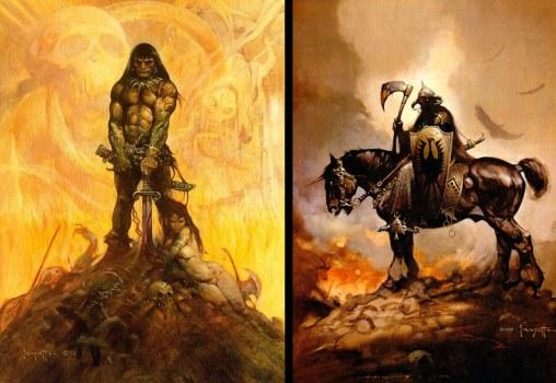 Soulmate Conan & Cousin Death Dealer. Faithful companions to Ride Warrior