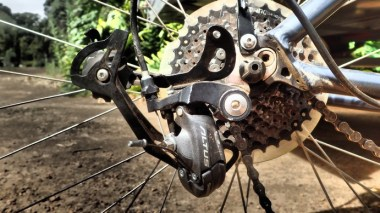 Ripped the derailleur apart. Credit to Barry and the power he put into the ride. No one expected this result however