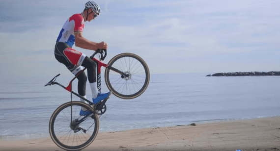 Video: Mathieu Van der Poel playing on his new Canyon