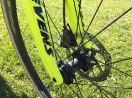 Shimano Hydraulic Calipers stop the 140mm rotors on his Cole Wheels