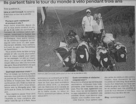 Ouest France 15-16 février 2014
