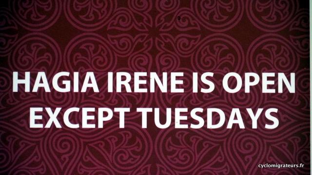 Irène n'est pas ouverte le mardi, dommage...