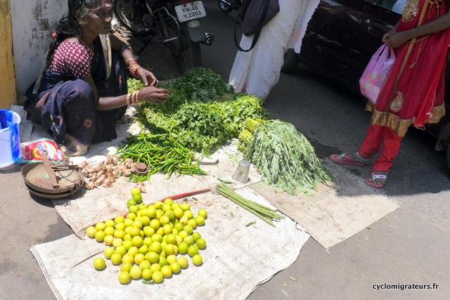 Vendeuse de fruits et légumes